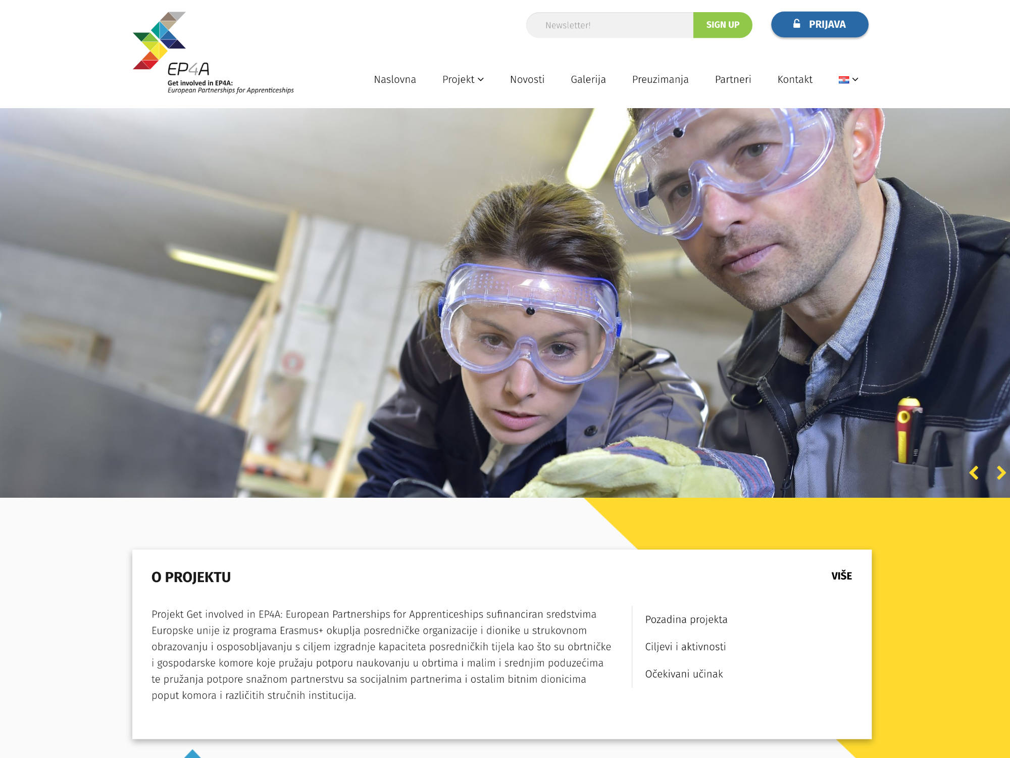 European Partnerships for Apprenticeships Website