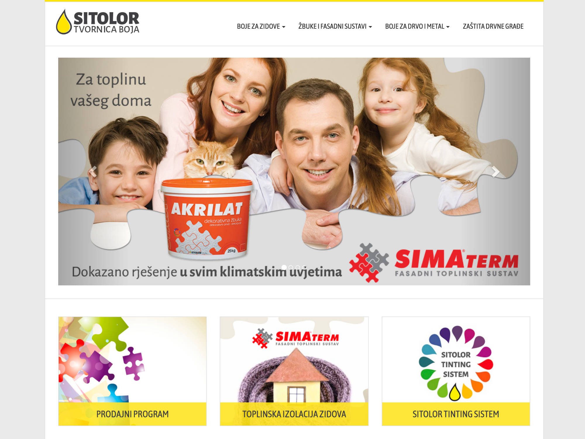 Sitolor tvornica boja Website
