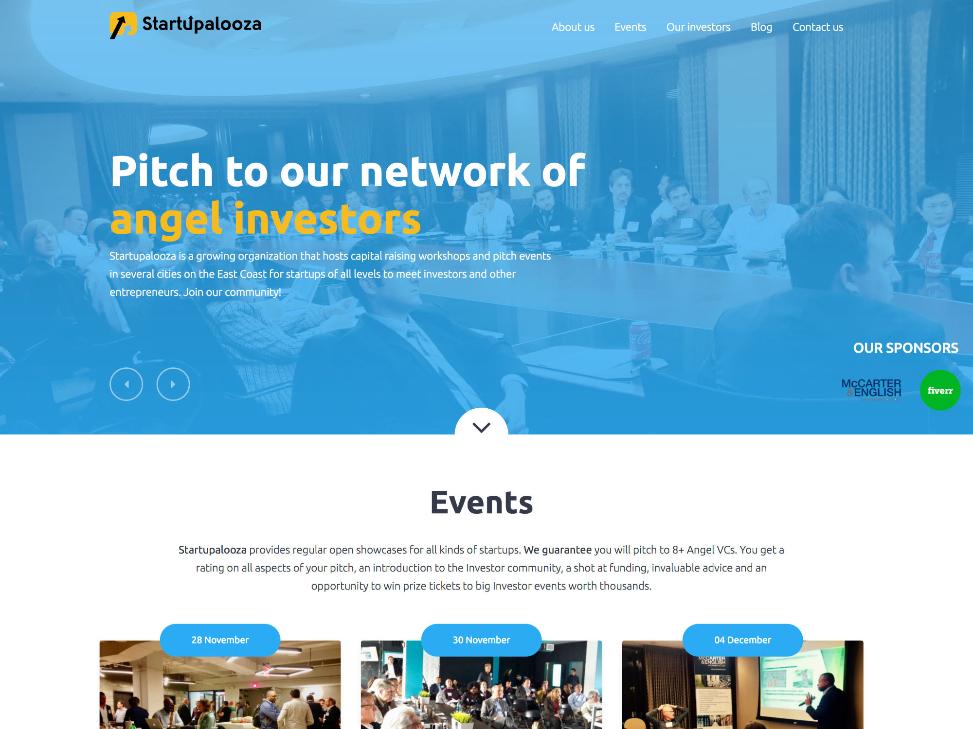 Startupalooza Website