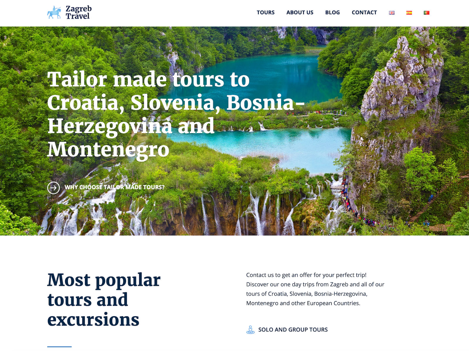 Zagreb travel Website
