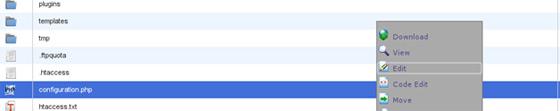 Joomla admin sučelje