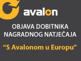 """Objava dobitnika nagradnog natječaja """"S Avalonom u Europu"""""""
