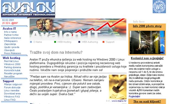 Stare Avalonove web stranice