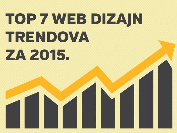 Top 7 web dizajn trendova za 2015. godinu