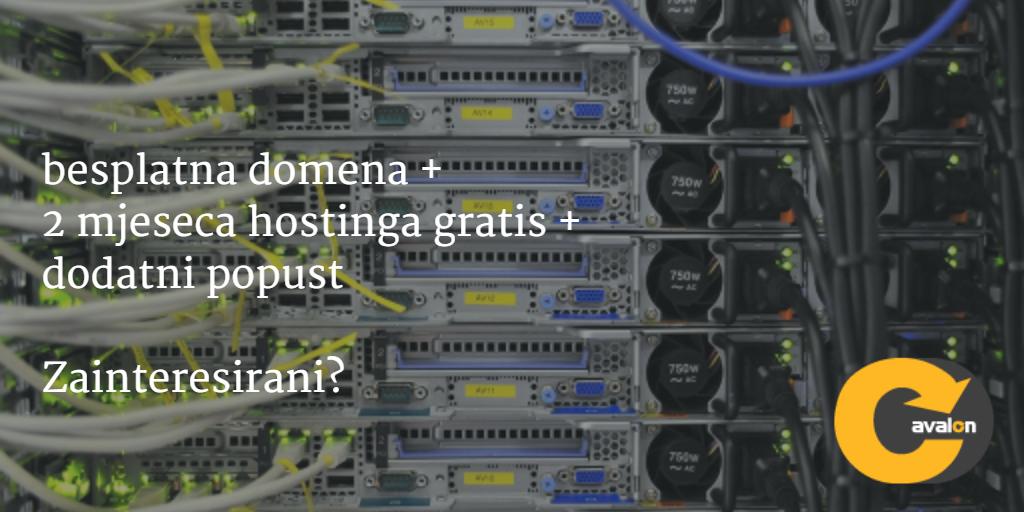 Besplatna domena i 2 mjeseca hostinga gratis