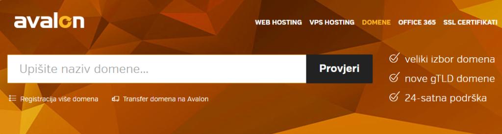Avalon-registracija-domena