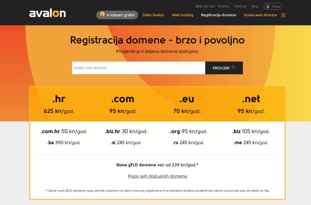 Registracija-domena-Avalon
